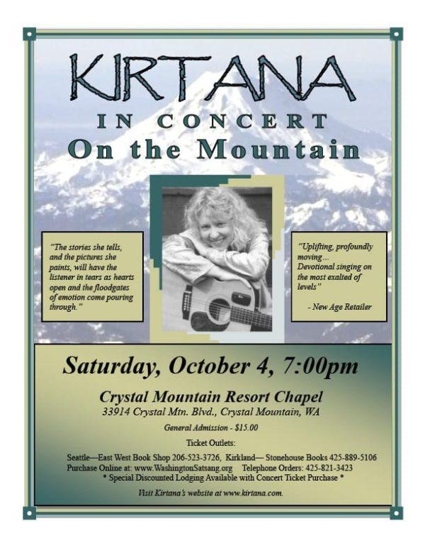 Kirtana Flyer Mountain Concert