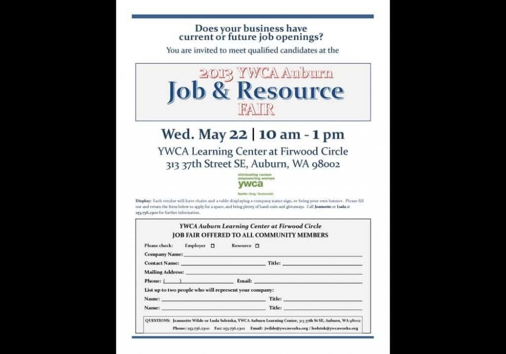 Job Resource Fair Flyer