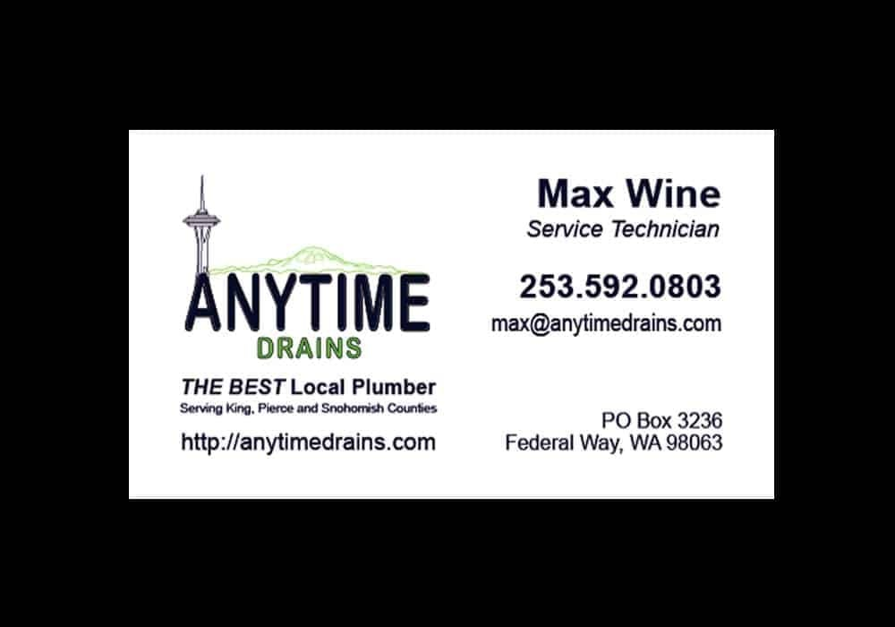 Plumber's Business Card