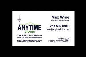 Plumbing Company Business Card Slide