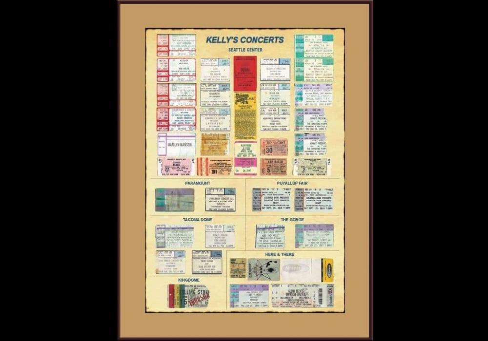 Custom Display - Concert Ticket Stubs
