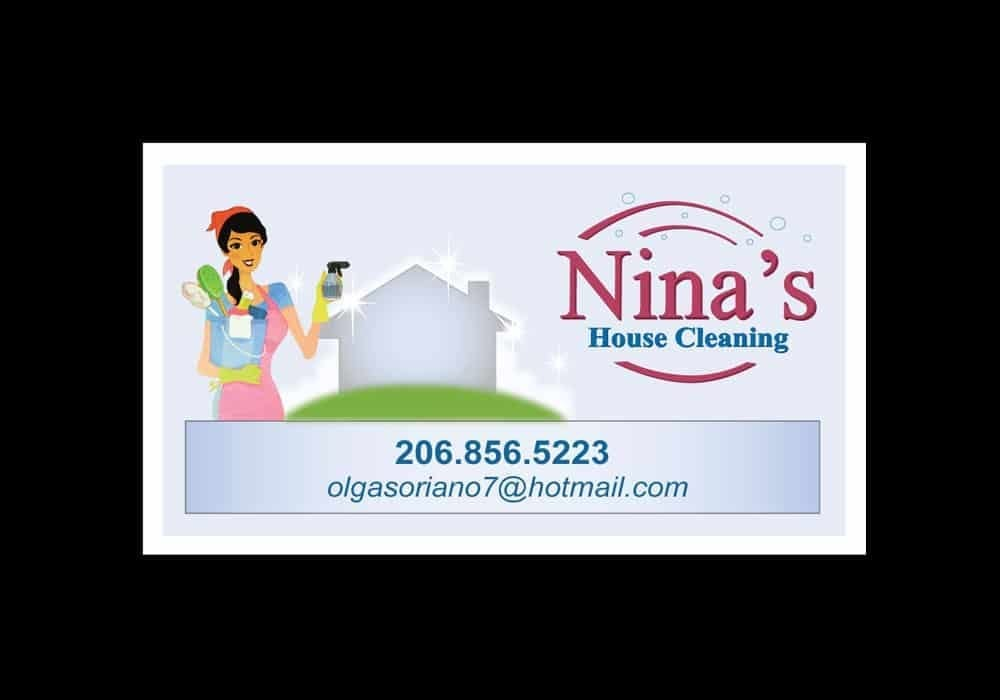 Housecleaner's Business Card