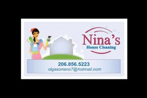 Housecleaning Business Card Slide