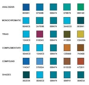 New Domain Design website color palette